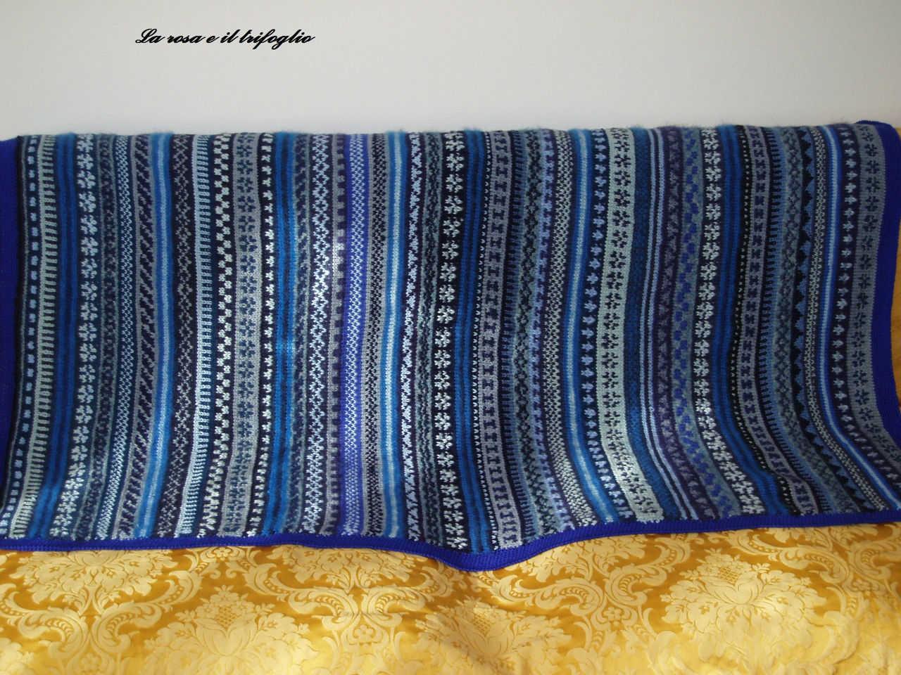 Coperte di lana e cotone fatte a mano for Piani di coperta coperta